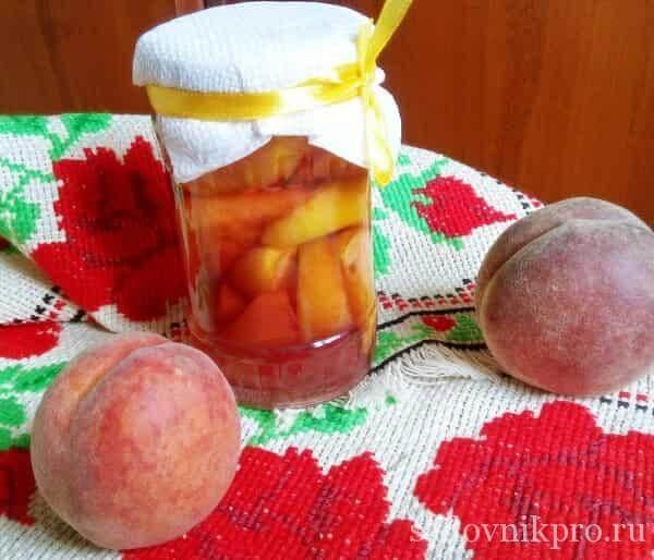 Варенье из персиков с целыми дольками на зиму