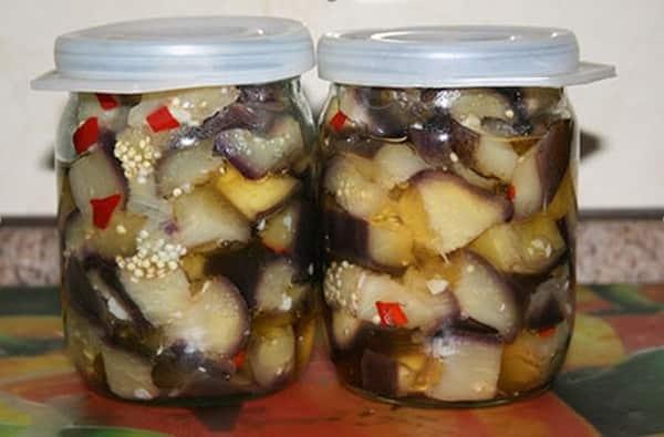 Маринованные баклажаны под грибы на зиму