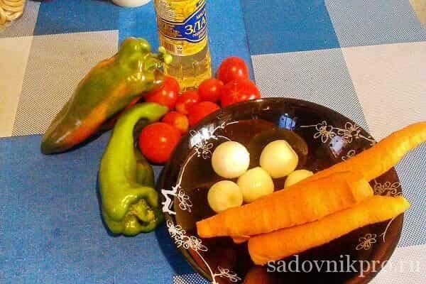 Лечо перца и помидоров