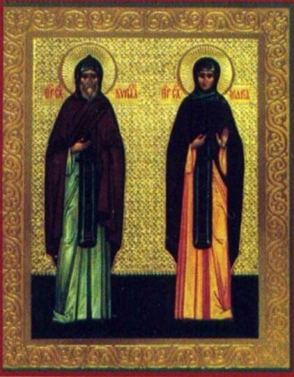 Икона брат и сестра Евлампий и Евлампия