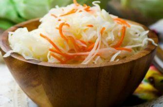 Квашеная капуста - рецепты быстрого приготовления