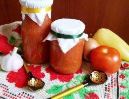 Аджика с помидорами, яблоками и морковью на зиму